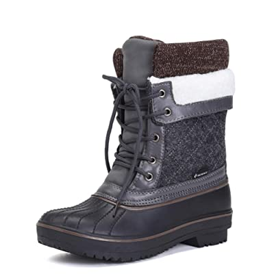 DESTURE Women's Snow Boots Warm Winter Water-Resistant Fabric Fashion Mid-Calf Shoes | Snow Boots