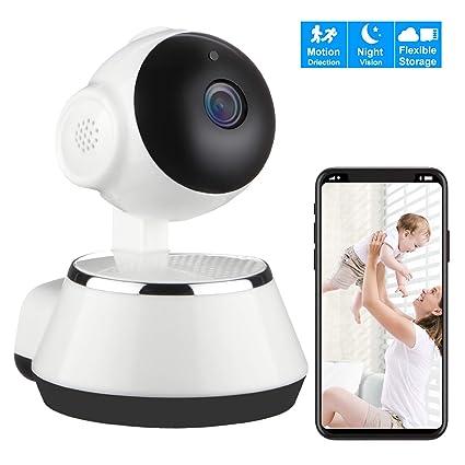 IP cámara WiFi, Cámara de Vigilancia WiFi Interior Inalámbrico, HD 720P Micrófono y Altavoz