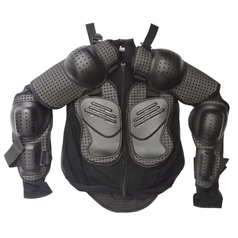 Kids Protective Gear Black Jackets Full Body Armor Guard for Dirt Bike Racing (L