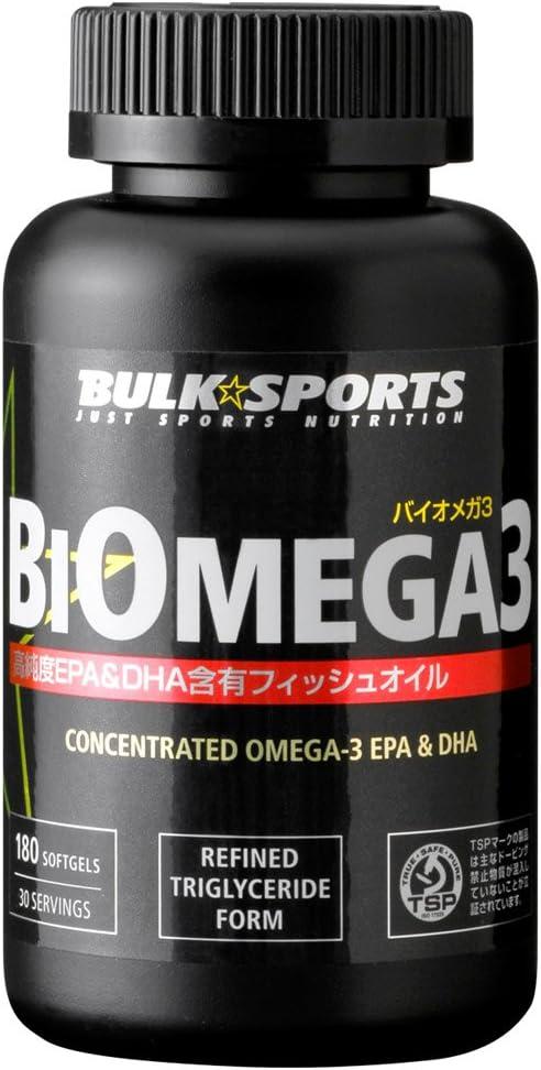 バルクスポーツ バイオメガ3 EPA&DHA含有フィッシュオイル 180カプセル
