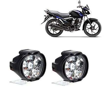 Autokraftz Bike Motorcycle Spot Fog Waterproof Round Head Light For