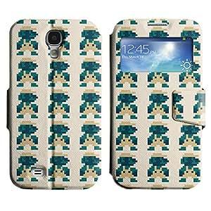 LEOCASE patrón pixelado Funda Carcasa Cuero Tapa Case Para Samsung Galaxy S4 I9500 No.1007034