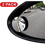 ILYPLUS Blind Spot Mirror, 360°Rotatable Waterproof Convex Rear View Mirror Adjustable Wing Mirror BlindSpot Side Mirrors for Car, SUV, Truck - 2 Pack (ILYPLUS is the Only Genuine)