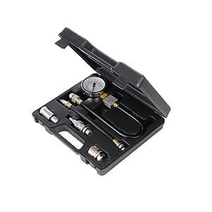 Silverline 598559 Coffret de compressiomètre 5 pièces pour moteur à essence