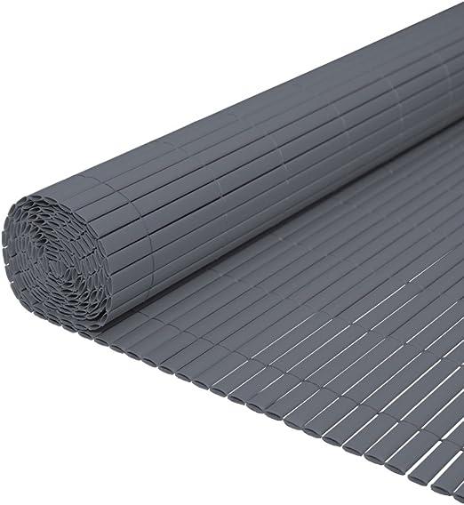 Hengda® Pantalla de privacidad Estera de PVC Valla jardin Protector contra el viento Cañizo PVC Doble Cara para jardín balcón y terraza (100X500cm) Gris: Amazon.es: Bricolaje y herramientas