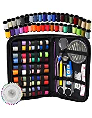 Sewing Kit - DIY Premium Sewing Supplies, Zipper Portable & Mini Sew Kits for Traveler, Adults, Beginner, Emergency - Filled with Mending,Sewing Needles, Scissors, Thimble, Thread,Tape Measure Set etc