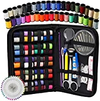 Sewing Kit - DIY Premium Sewing Supplies, Zipper Portable & Mini Sew Kits for Traveler, Adults, Beginner, Emergency - Filled with Mending and Sewing Needles, Scissors, Thimble, Thread,Tape Measure etc