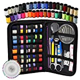 #9: Sewing Kit - DIY Premium Sewing Supplies, Zipper Portable & Mini Sew Kits for Traveler, Adults, Beginner, Emergency - Filled with Mending and Sewing Needles, Scissors, Thimble, Thread,Tape Measure etc