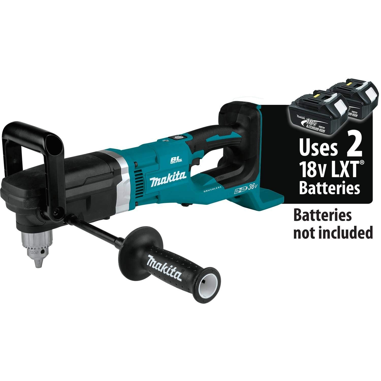 Makita XAD03Z 18V X2 LXT Lithium-Ion (36V) Brushless Cordless 1/2'' Right Angle Drill, Tool Only by Makita
