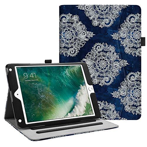 Fintie iPad 9.7 2018 2017 / iPad Air 2 / iPad Air Case - [Corner Protection] Multi-Angle Viewing Folio Cover w/Pocket, Auto Wake/Sleep for Apple iPad 6th / 5th Gen, iPad Air 1/2, Indigo Dreams