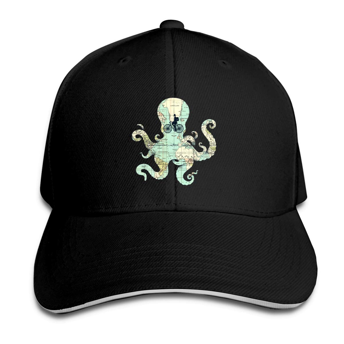 Octopus Map Classic Adjustable Cotton Baseball Caps Trucker Driver Hat Outdoor Cap Black