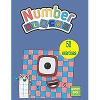 Numberblocks Activity Book: Numberblocks Addition & Subtraction WorkBook, 50 Activity Book for Kids