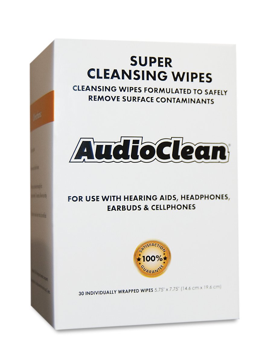 Audio Clean Wipes, for Hearing AIDS. Alcohol-Free, 30 Individually Wrapped. by Dry & Store