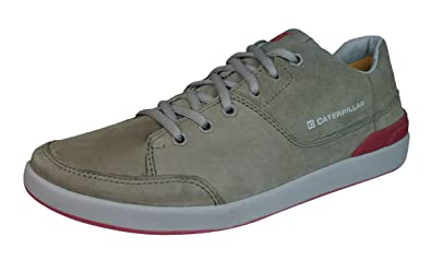 Caterpillar Kine Mens Leather Suede Sneakers/Shoes-Brown-12