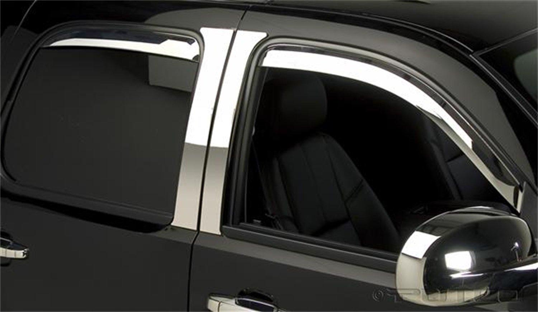 Putco 480056 Element Chrome Window Visor Set of 4