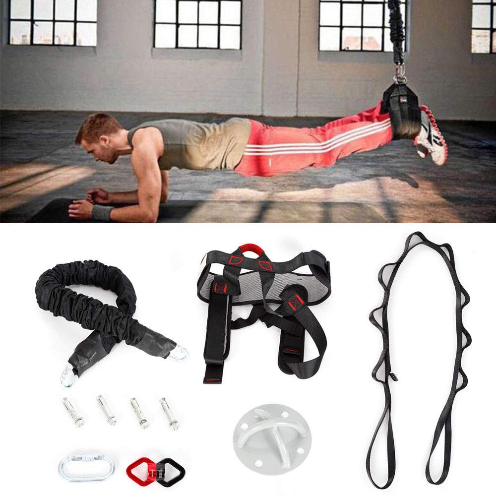 Gravity Yoga Bungee Resistance Band Pilates Pull Rope Gym Yoga Equipment 100KG