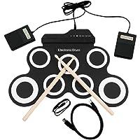 Instrument de percussion de batterie électronique kit batterie électronique g3002 tambour pour enfants épaissie rouleau de silicone pliable