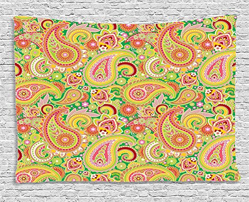 Supersoft Fleece Throw Blanket Paisley Collection Traditional Persian Paisley Pattern Print with Eastern Ethnic Elements Vintage Home Multi