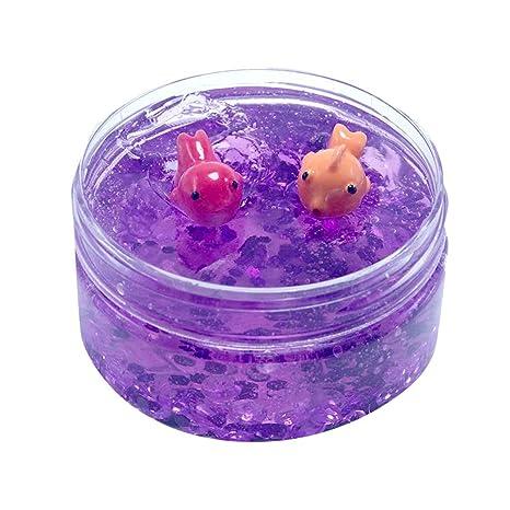 TIMEMEAN Cuenta Grano De Pecera De Lentejuelas Y Confeti Color Goldfish Slime Juguetes NiñOs Regalo Pascua