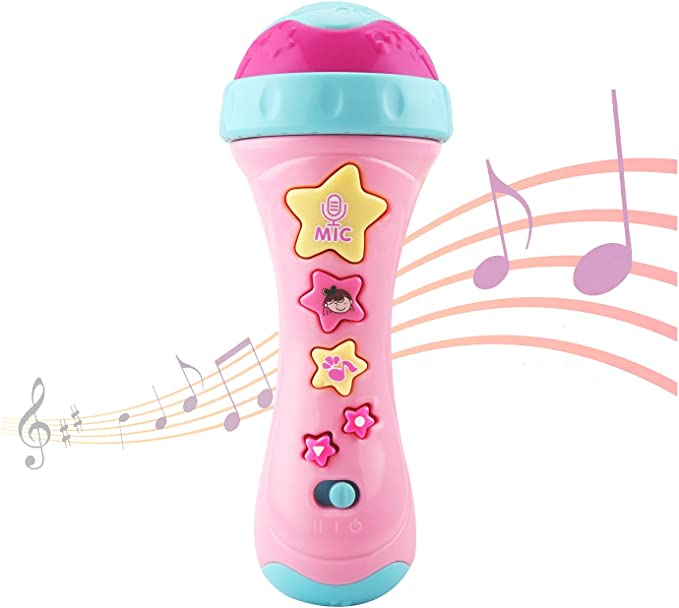 Early Educational Music Toy for Kids and Children Mighty Echo Microphone Yubenhong Karaoke Microphone Toy Voice Changing and Recording Microphone