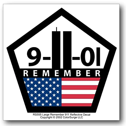 Remember 911 reflective decal