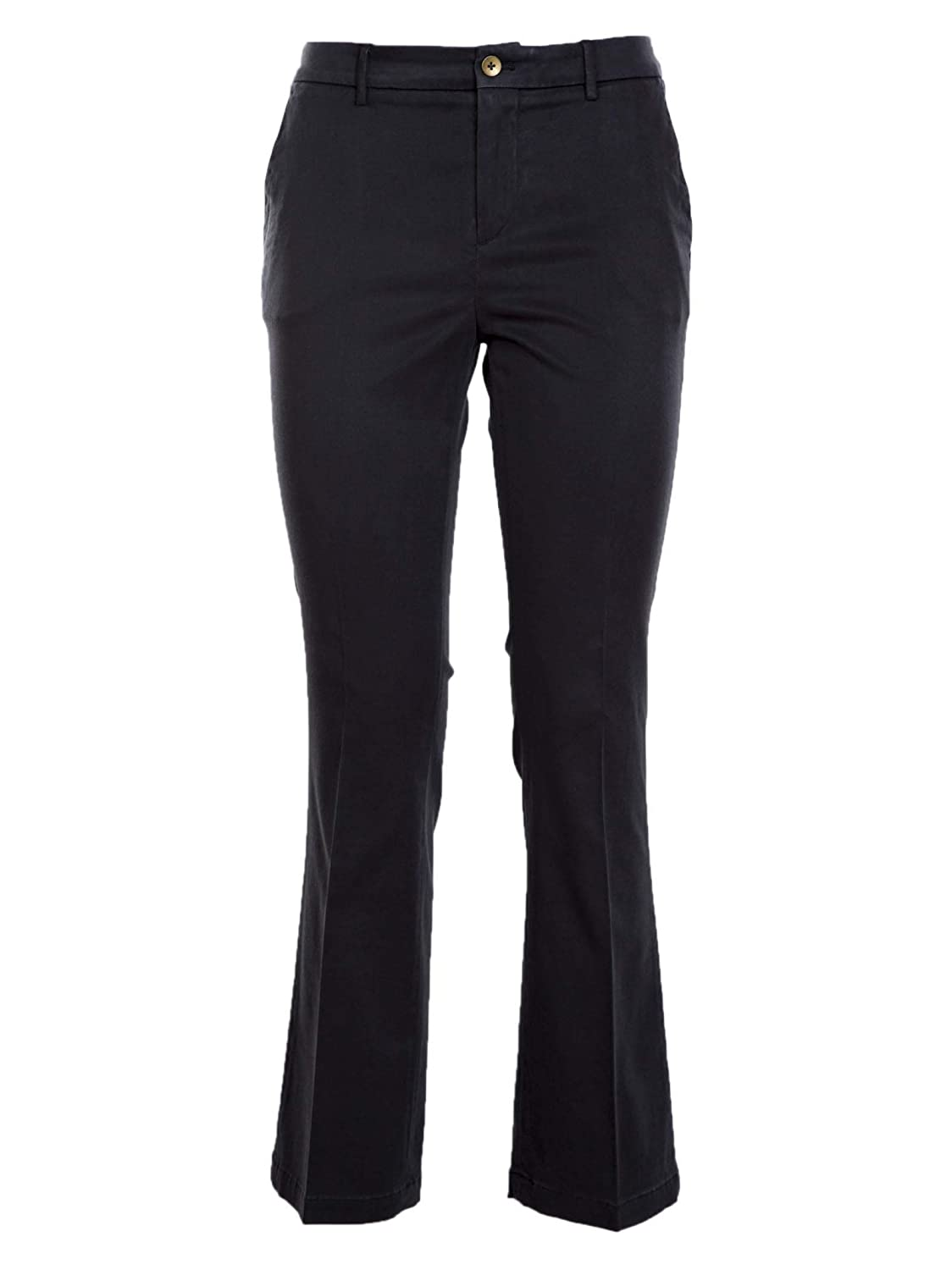 Pt01 Women's VTJAZ00STDSLIM0360 Black Cotton Pants