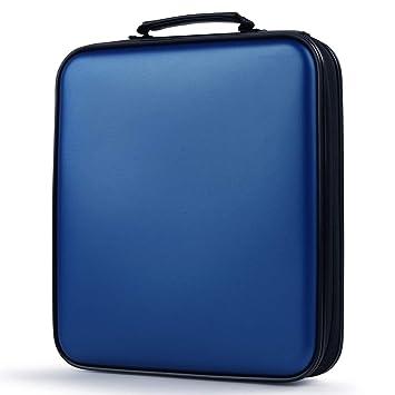Coofit Porta CD, Estuche CD de 160 Disco Almacenamiento CD DVD Fundas CD Protectora (Azul)