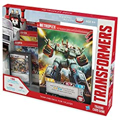 The Transformers TCG's first 25-star character—metroplex// Autobot city—is a force to be reckoned with. When combat heats up, aplayer can use Metroplex// Autobot city to deploy the additional character cards included to strengthen their team!...
