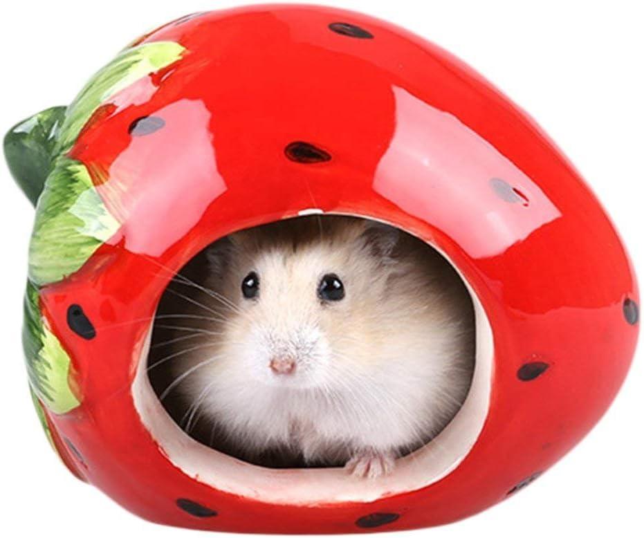 Dwarf Hamster Hideout Adorable Cartoon Shape Hamster House Chinchilla Mini Hut Small Animal Ceramic Hideout Cave