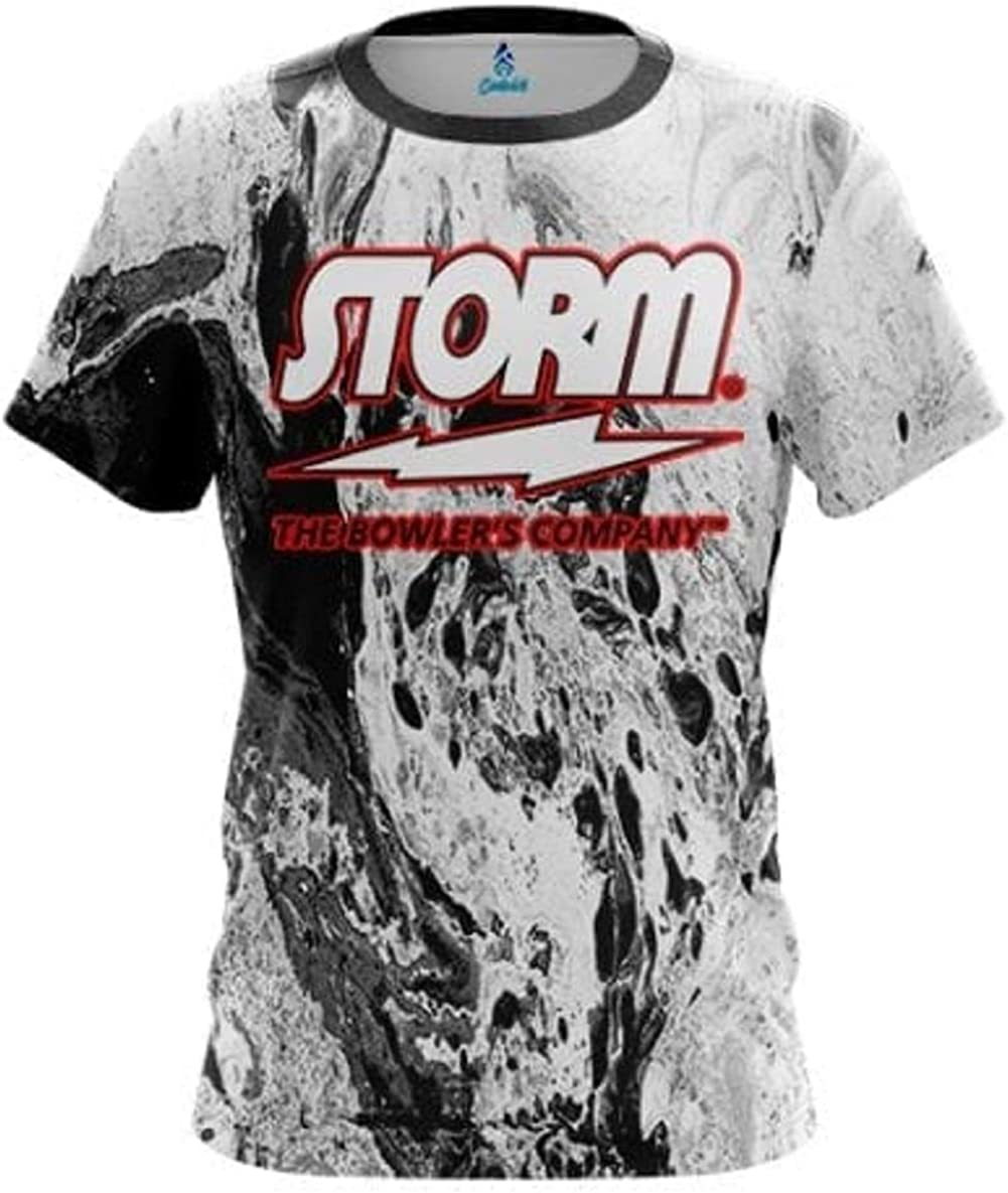 CoolWick Storm Marble Black Black Bowling Jersey