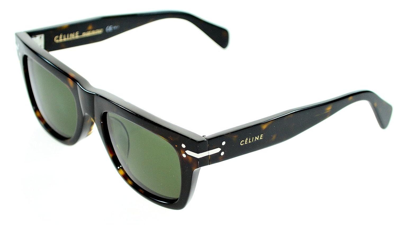 b9e48a9234e Amazon.com  Céline Sunglasses - 41046 F S   Frame  Dark Havana Lens  Green   Clothing