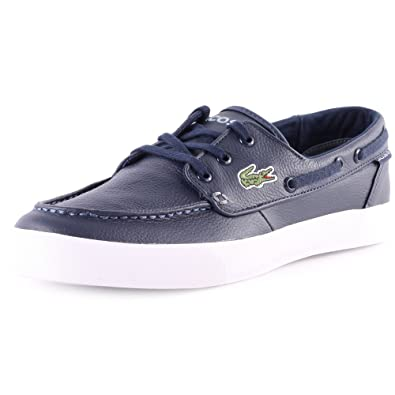 Lacoste Mens Dark Blue Keel Boat Shoes