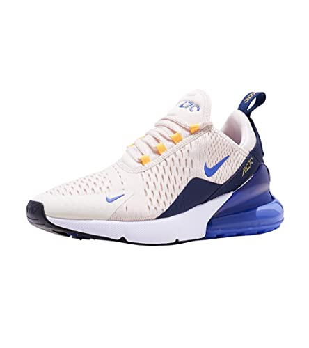 NIKE Women's Air Max 270 Shoes (7, WhitePurple)
