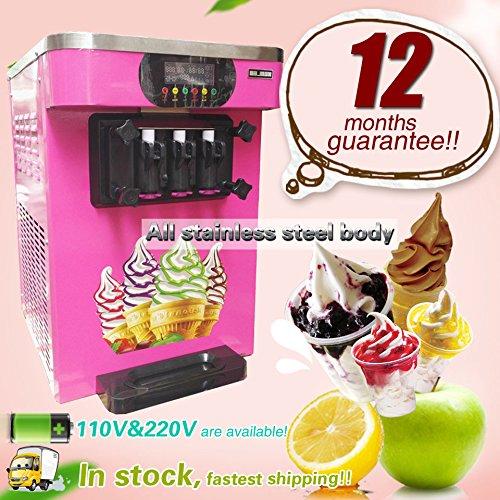 Yoli stainless steel ice cream machine,commercial soft ice cream making machine,manual ice cream maker machine with three flavor,110V/220V
