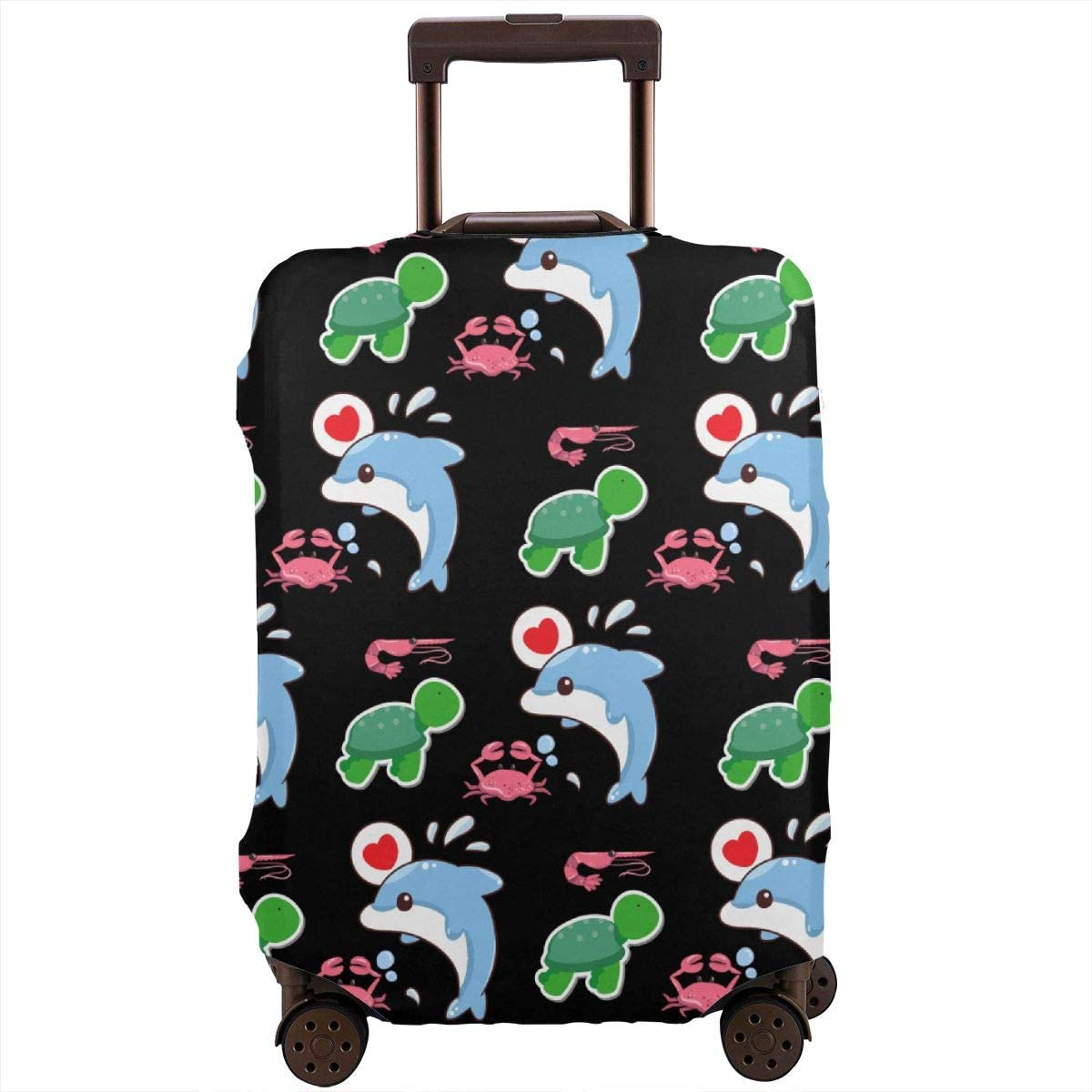 Luggage Cover Sea Anemone Crab Dolphin Turtle Protective Travel Trunk Case Elastic Luggage Suitcase Protector Cover