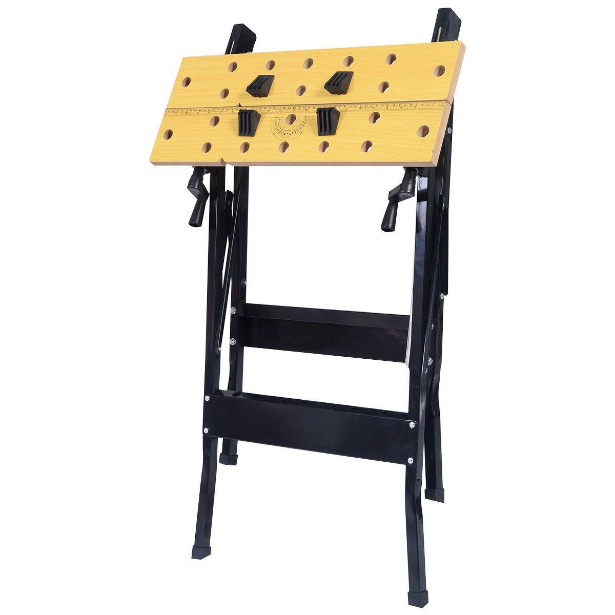 Folding Work Bench Table Tool Garage Repair Workshop
