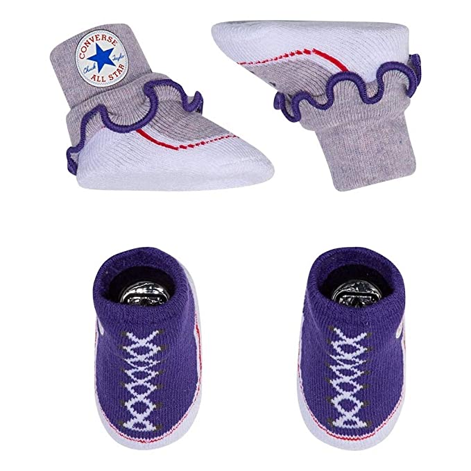 93f5cee26b977 Converse Baby Girls Frilly Sock Booties-2 Pack: Amazon.ca: Clothing ...