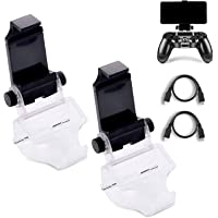 2 Pack PS4 Controller Phone Clip, PS4 Slim Pro 4 Controller Grip for Android Smart Phone, 180 Degree Gaming Holder Mount…