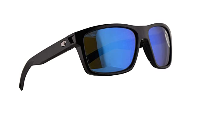 8f063562f3 Image Unavailable. Image not available for. Color  Costa Del Mar Slack Tide  Sunglasses Shiny Black w Polarized Glass Blue Mirror 580G Lens
