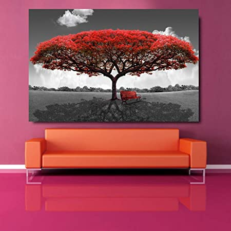Art Red London Bus Modern Home Decor Picture for Living Room ...