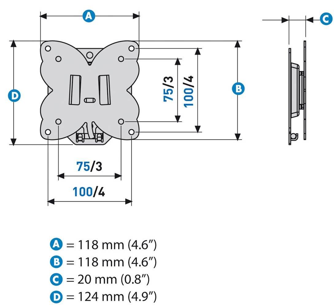 Meliconi S 100 Support Mural Fixe Stile Pour Tv Led Lcd Plasma  # A Quelle Hauteur Fixer Une Tv