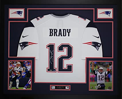 Tom Brady Autographed White Nike Patriots Jersey - Beautifully ...
