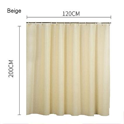 Jinxin Cortina de ducha beige, cortinas resistentes a la prueba del molde ducha Cortina de