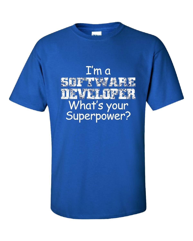 I Am A Software Developer Whats Your Superpower - Adult Shirt 3XL Royal