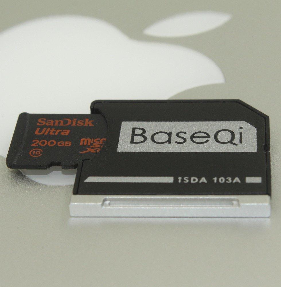 BASEQI aluminum microSD Adapter for MacBook Air 13'' and MacBook Pro 13''/15'' (Non-Retina)