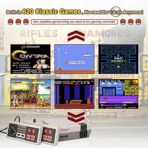 Hangyuan Mini Video Game Console Super NES Classic Games Built in 620 Games AV Out to TV for Family Recreation Dual Players 4-Button by Hangyuan (Image #1)