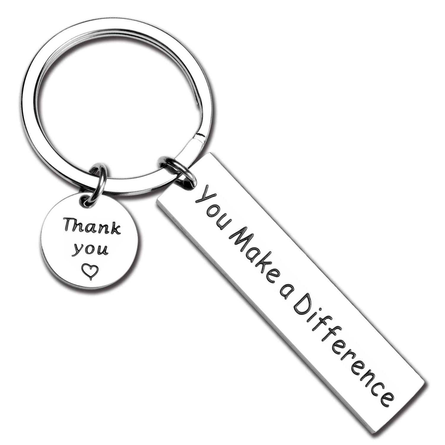 ecobuty You Make A Difference Keychain Thank You Gift for Volunteer Mentor Employee Teacher Gift