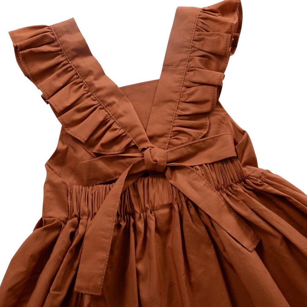 Sommer Party Kleid Brightup Baby Kinder M/ädchen R/üschen Kleid Bowknot Strandkleid s/ü/ße Kleine M/ädchen Prinzessin Kleid
