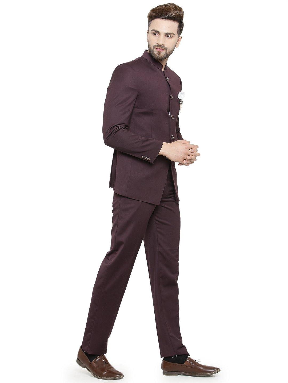 8d75d493649 Men's Ethnic Contemporary Wedding Bandhgala Jodhpuri Suit Set-3 Colors  Available at Amazon Men's Clothing store: