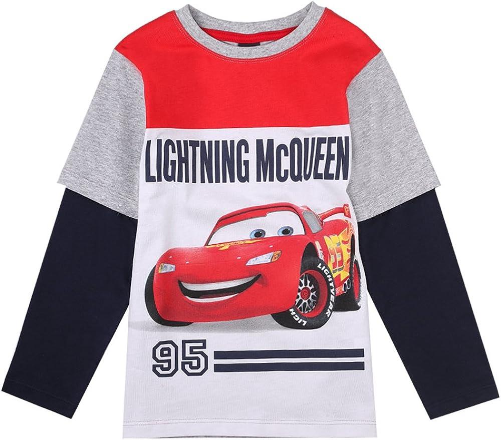 Cars Disney Niños Camiseta, Gris Claro Melange, Talla 128, 8 años: Amazon.es: Ropa y accesorios
